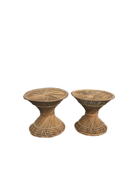 Rattan Matching End Tables