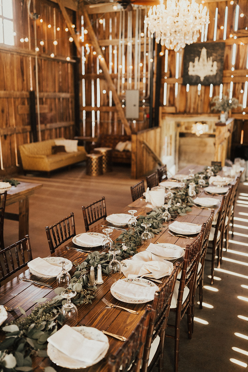 Rustic Farm Table Wedding Table Decor: Charming Bohemian Gilbertsville Farmhouse Wedding captured by Rachel Liz Photography featured on Pretty Little Vintage Co