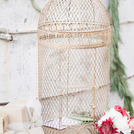 Large Gold Bird Cage Box