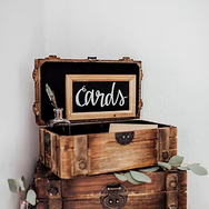 Wooden Chest Card Box