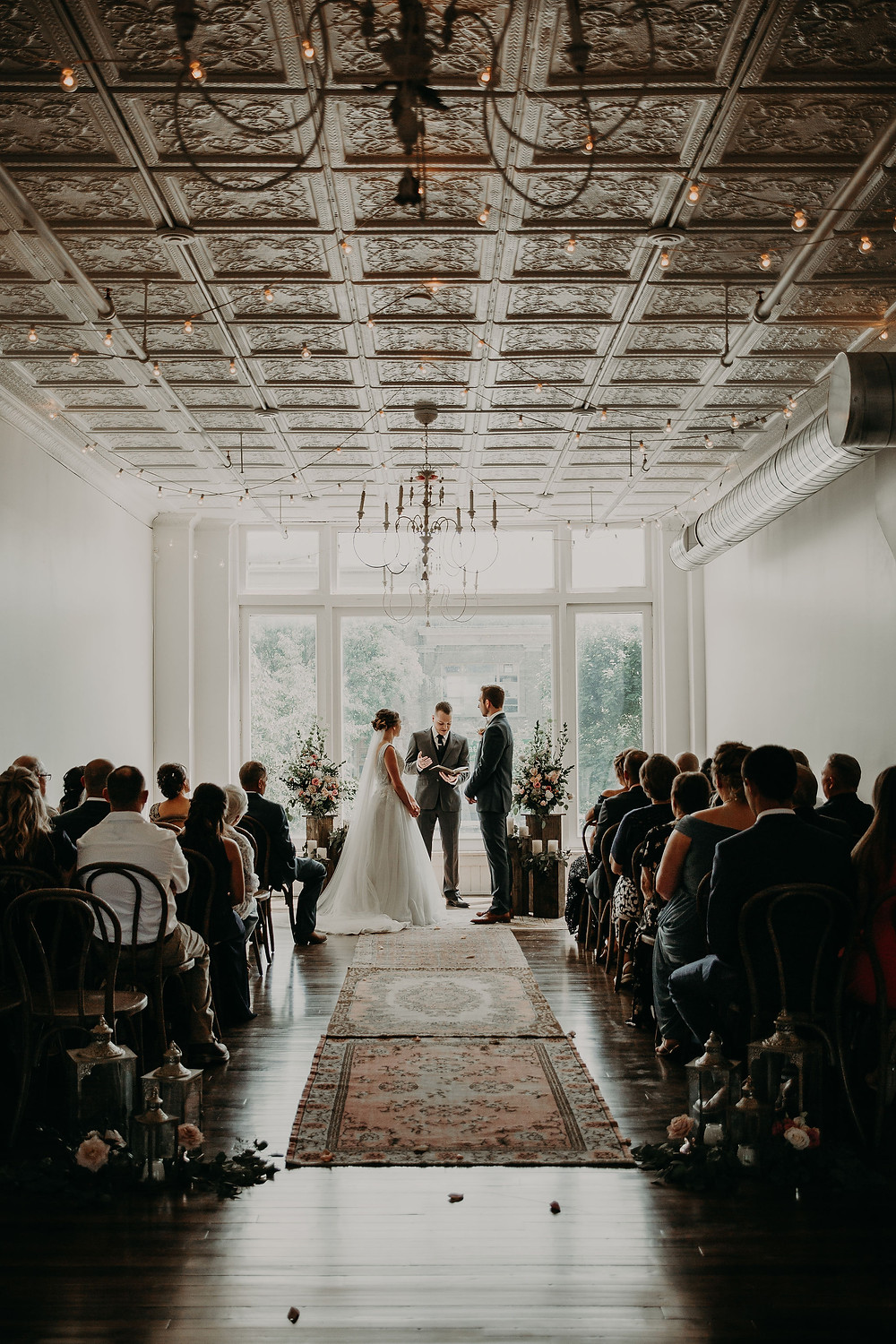 Small wedding ceremony: Summer Small Wedding at The Lincoln Loft by Pretty Little Vintage Co.
