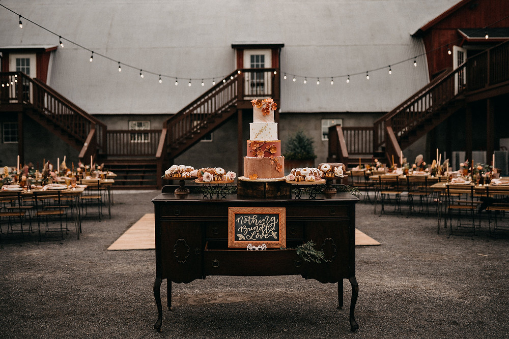 Vintage Dessert Display: Warm & Rustic Styled Shoot at Hayloft in the Arch captured by Tracy Jade Photography featured on Pretty Little Vintage Co.