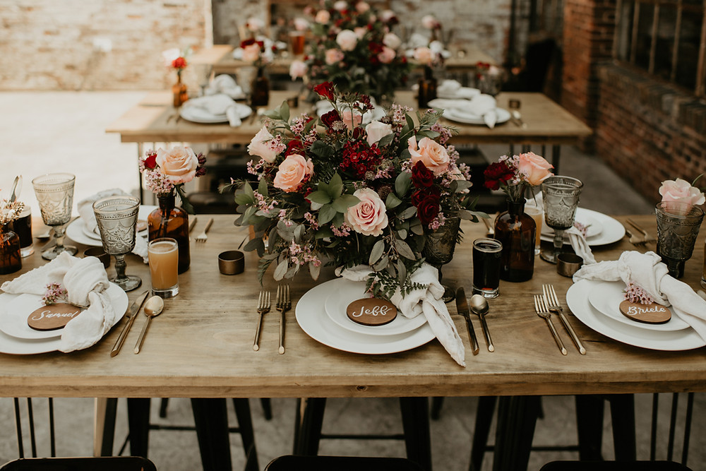 Edgy Industrial Wedding Inspiration at Garland City Beer Works by Pretty Little Vintage Co.