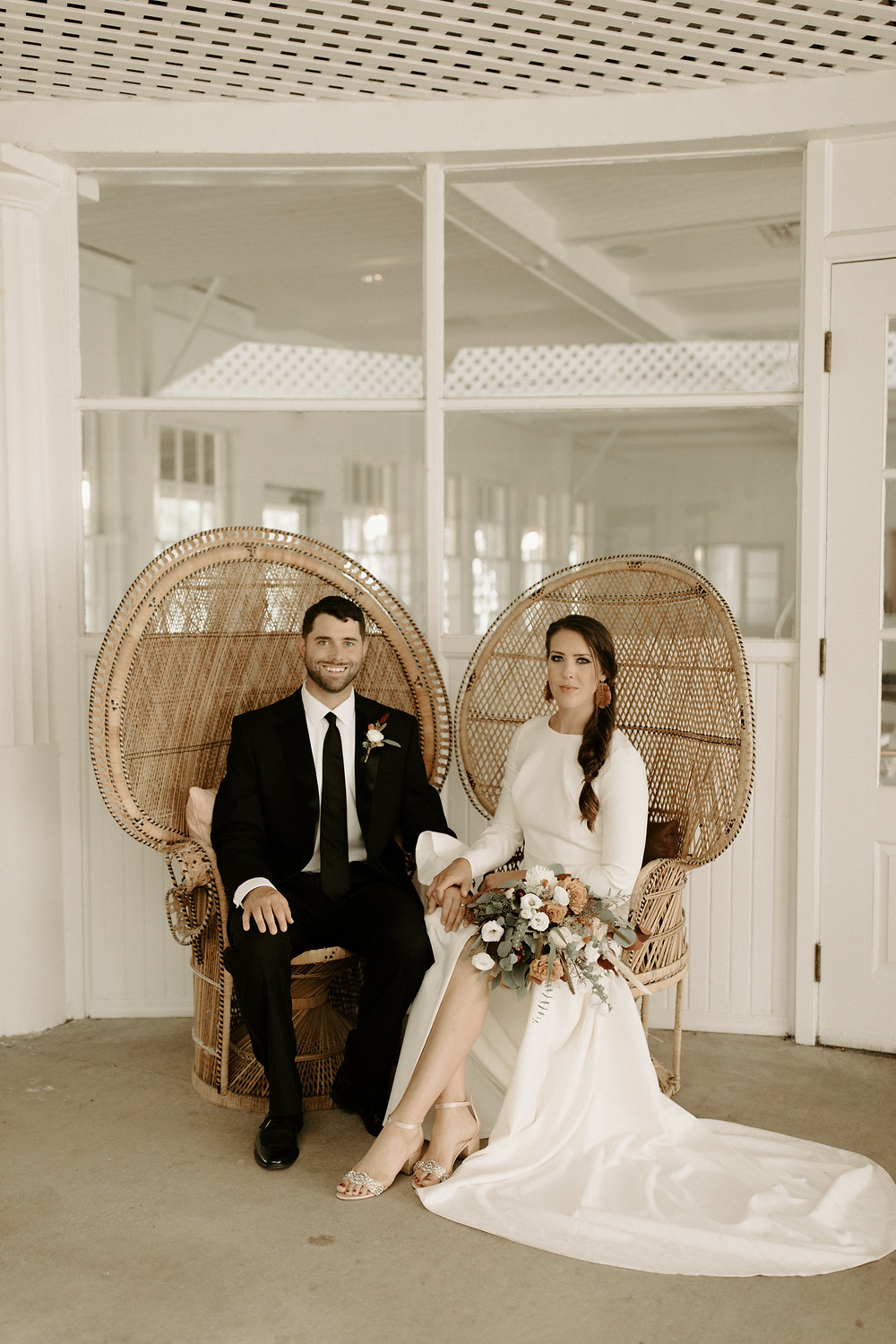 Peacock wedding chairs