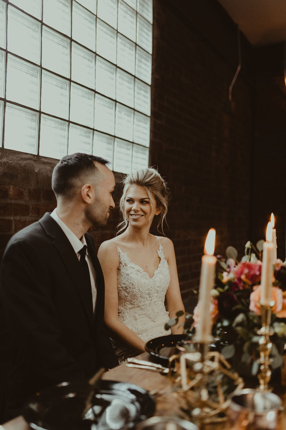 Industrial & Copper Styled Wedding Shoot at Smith's Market featured on Pretty Little Vintage Co.