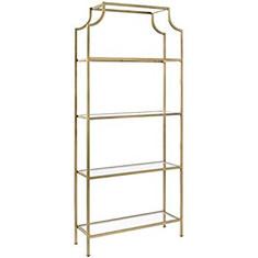 Gold & Glass Shelves