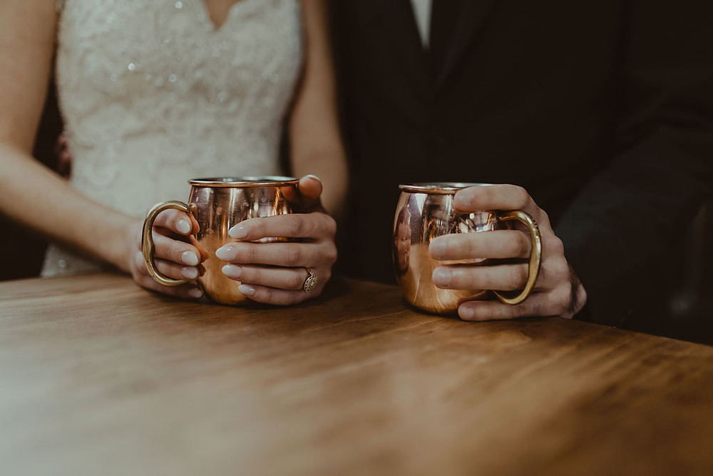 Moscow Mule Bar Wedding: Industrial & Copper Styled Wedding Shoot at Smith's Market featured on Pretty Little Vintage Co.