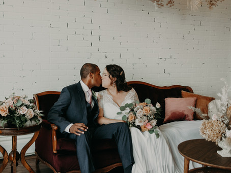 Nicholas & Becky's Beautiful Intimate Wedding at The Lincoln Loft in Watertown, NY