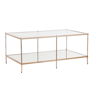 Gold & Glass Rectangle Coffee Table