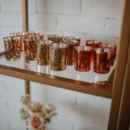 Rose, Gold & Copper Mercury Glass Votives