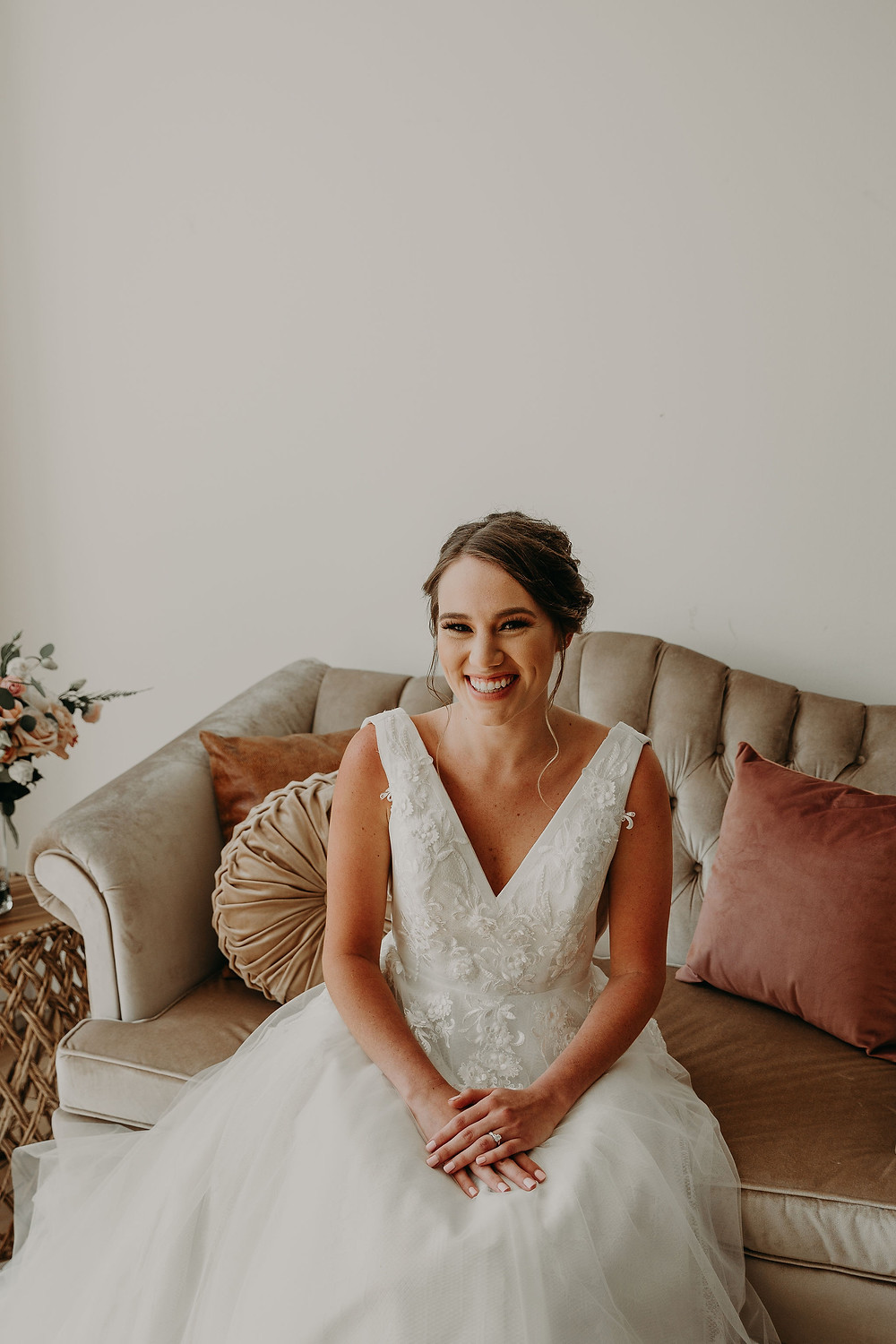 Bridal portrait: Summer Small Wedding at The Lincoln Loft