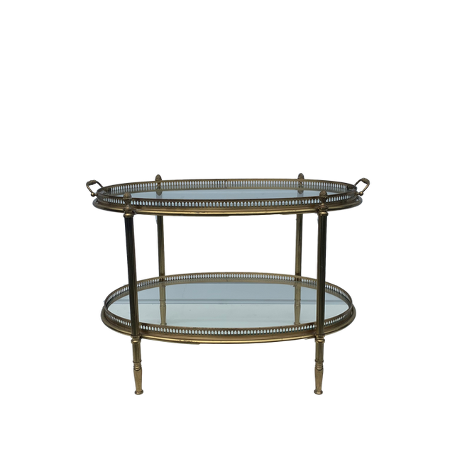 Vintage Double Gold Tray Table