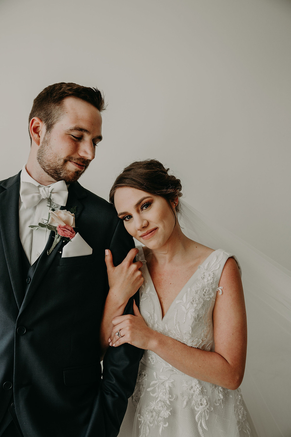 Watertown New York wedding: Summer Small Wedding at The Lincoln Loft by Pretty Little Vintage Co.
