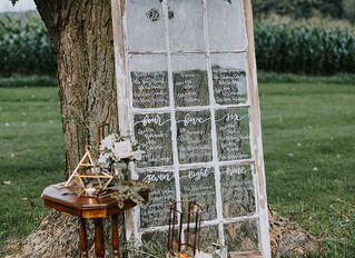 Ten Wedding Seating Charts to Guide Guests to Their Tables - Pretty Little Vintage Co. Rentals - Wat