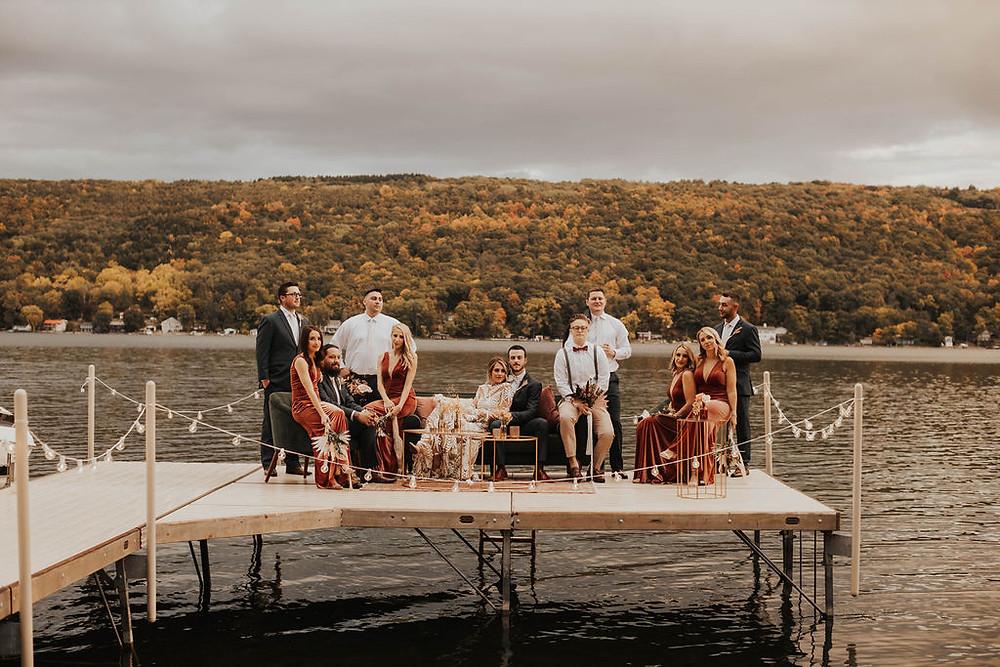 Keuka Lake Waterfront Wedding | Pretty Little Vintage Co.