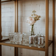 Crystal Votive Holders & Silver Mercury Glass Votives