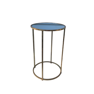 Skinny Round Gold End Table