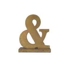 Small Gold Ampersand