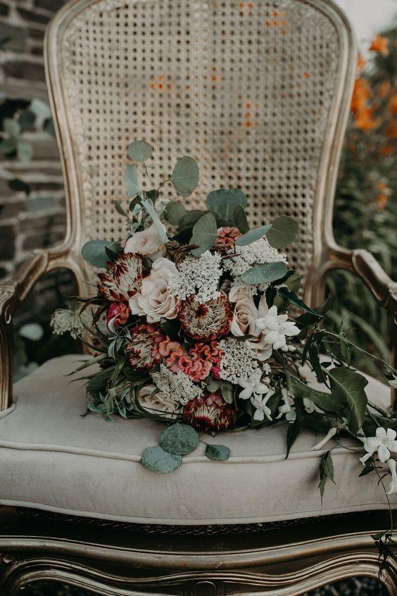 Pretty Little Vintage Co. Lounge Rentals: Boho TerraCotta Wedding Styled Shoot at Red Barn 20
