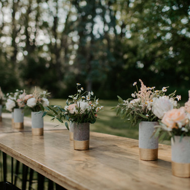Gold Dipped Cement Vases