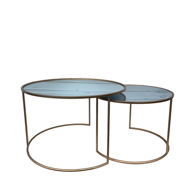 Nesting Round Gold & Mirror Tables