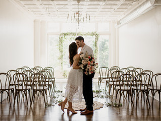 Sweet & Intimate Elopement at The Lincoln Loft in Watertown, NY