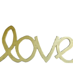 Large Gold Love Letters