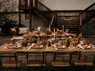 Warm & Rustic Fall Wedding Styled Shoot at Hayloft in the Arch