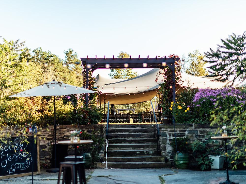 Outdoor wedding reception: Vintage Glam Barn Wedding at The Treman Center