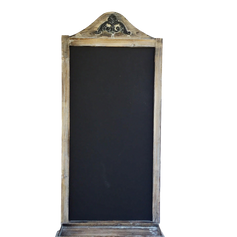 White Washed Chalkboard w Shelf