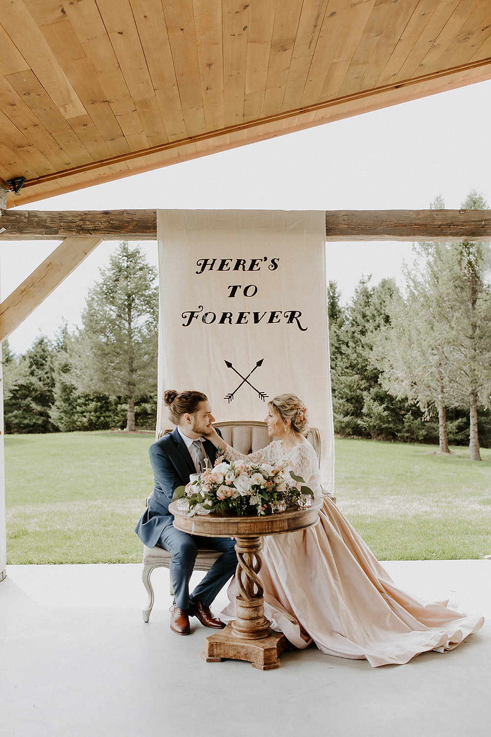 Wedding Sweetheart Table Inspiration by Pretty Little Vintage Co.