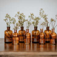 Amber Bud Vases