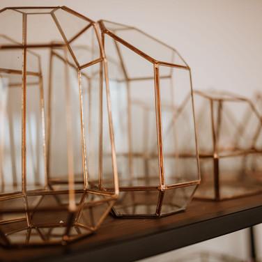 Gold & Glass Terrariums