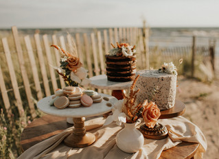 Romantic Beach Elopement Styled Shoot in Upstate New York