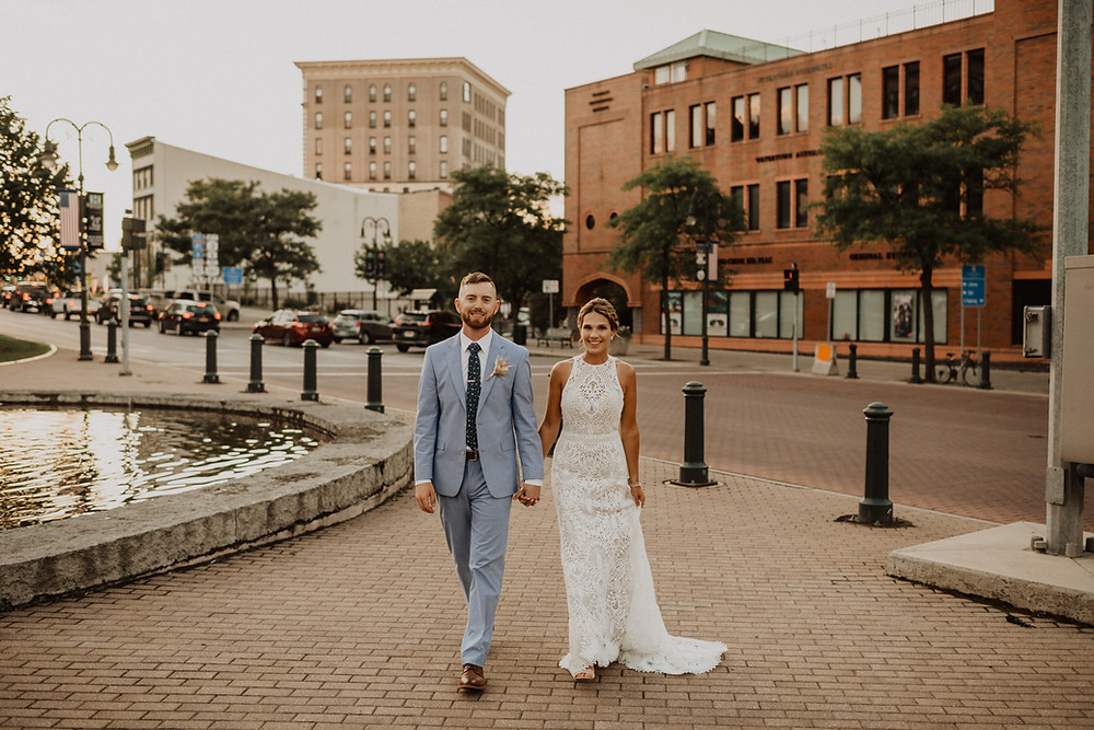 Modern Boho Wedding at The Lincoln Loft captured by Kimberly Schuldt Photography