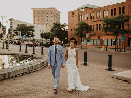 Michaela & Brandon's Modern Boho Wedding at The Lincoln Loft in Watertown, NY