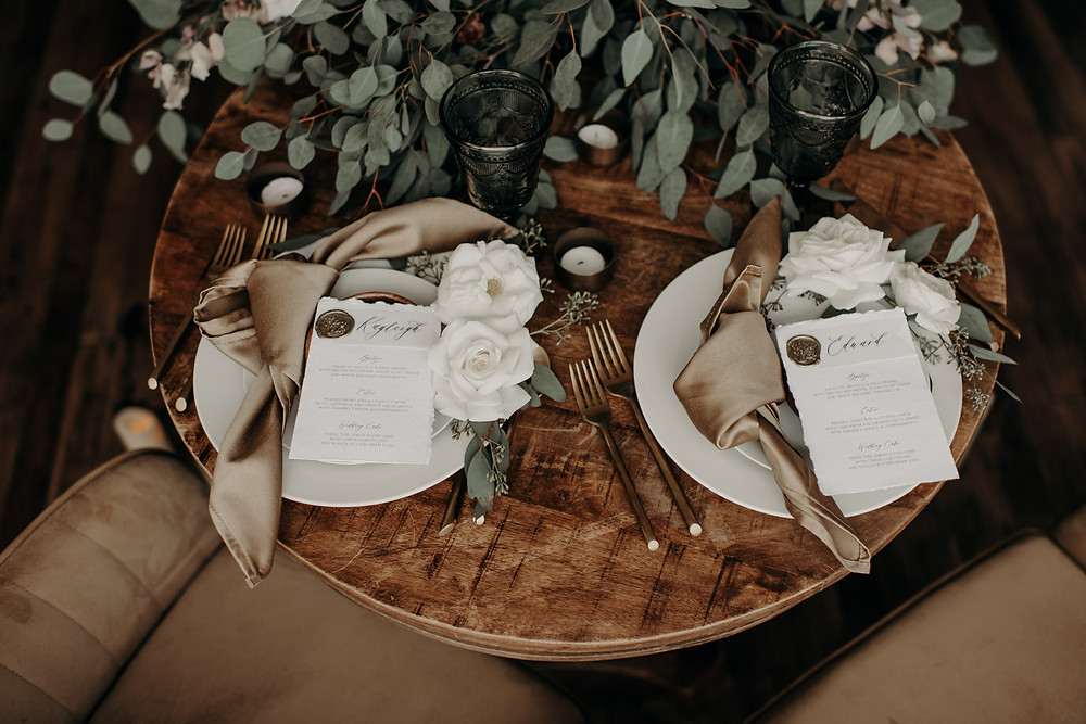Wedding sweetheart table display