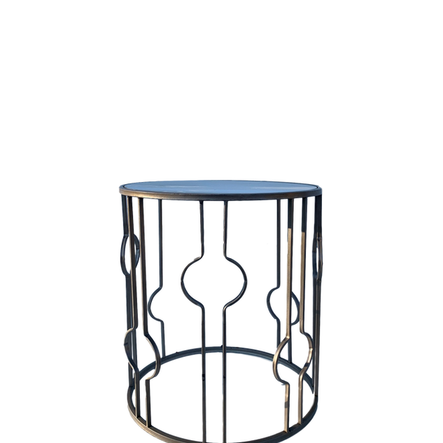 Metallic Mirror Table