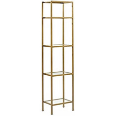 Skinny Gold & Glass Shelves