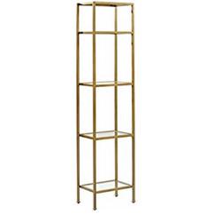 Skinny Gold & Glass Shelves
