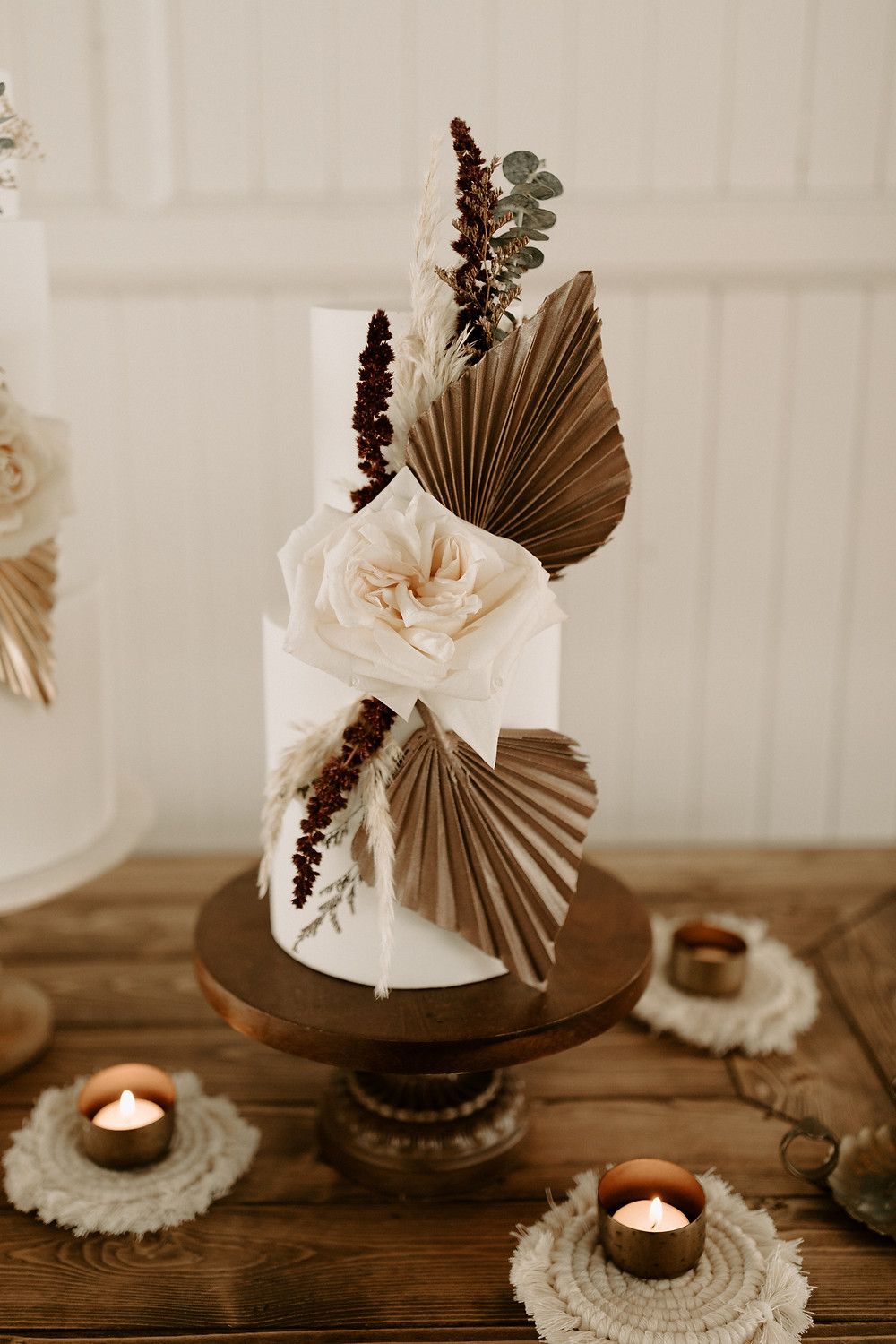Fine art boho wedding cake