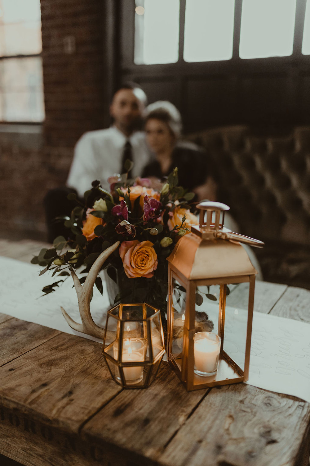 Vintage Lounge Decor: Industrial & Copper Styled Wedding Shoot at Smith's Market featured on Pretty Little Vintage Co.