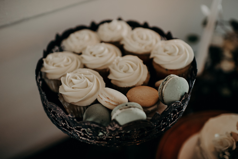 Antique wedding cupcake stand