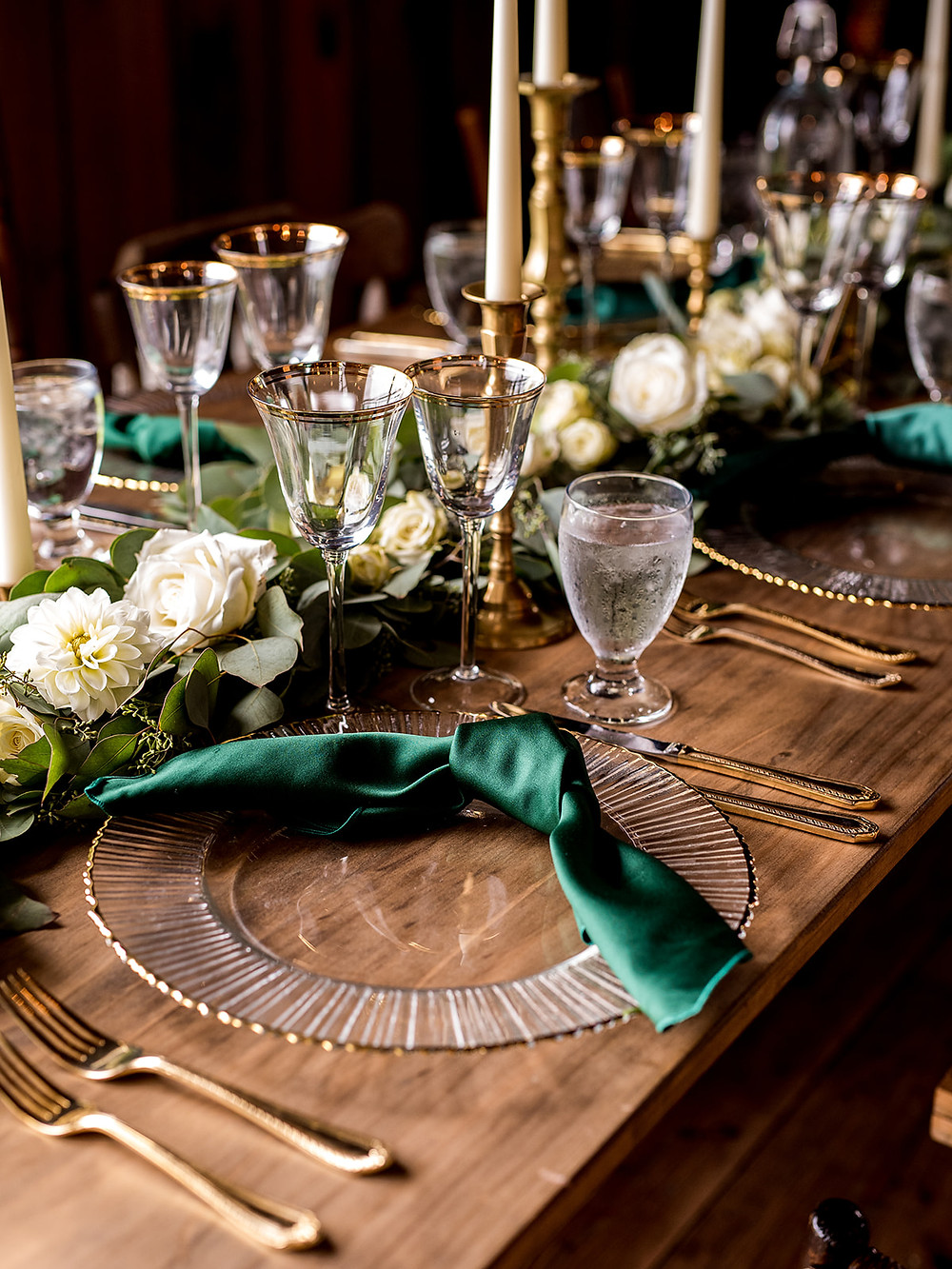 Wedding tabletop decor: Whimsically Rustic Wedding at Grace & Gratitude with vintage decor by Pretty Little Vintage Co.