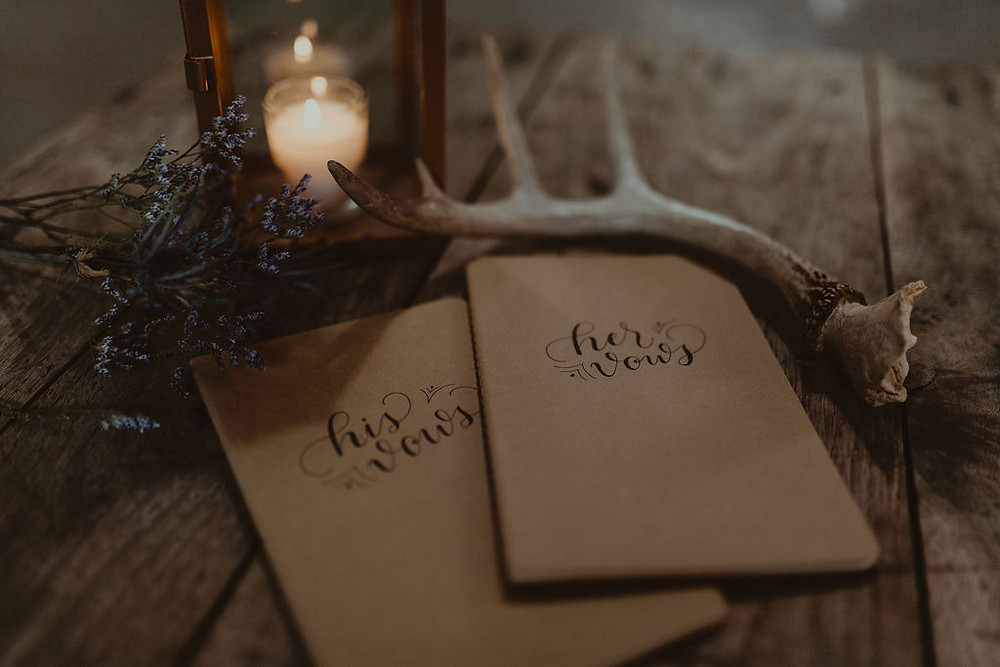 Wedding Vow Books: Industrial & Copper Styled Wedding Shoot at Smith's Market featured on Pretty Little Vintage Co.