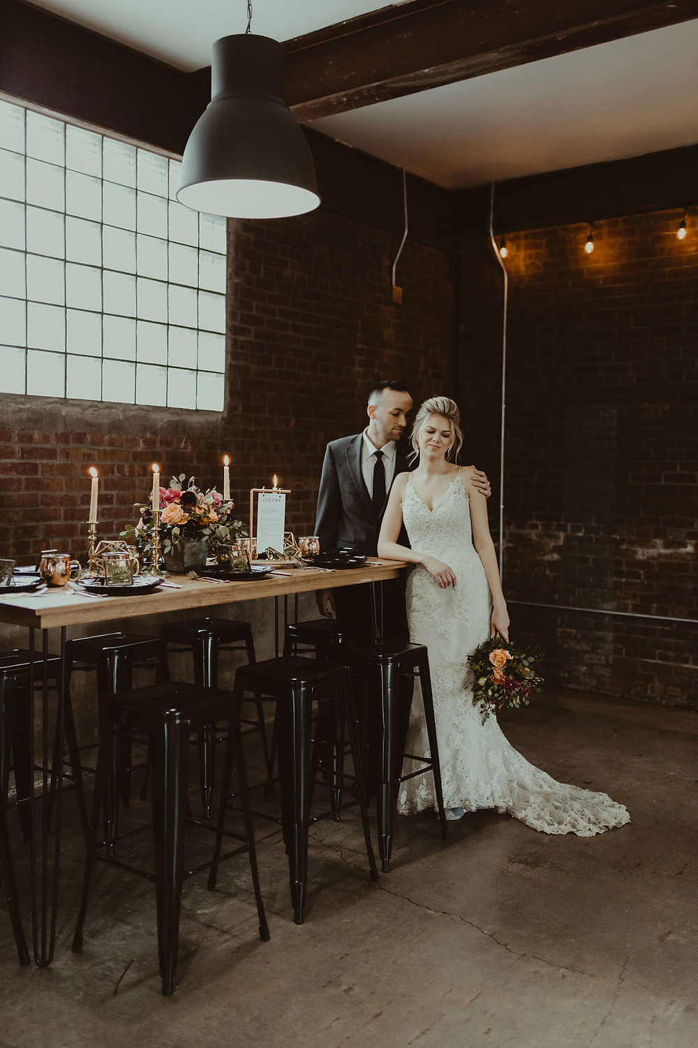 Copper Wedding Inspiration: Industrial & Copper Styled Wedding Shoot at Smith's Market featured on Pretty Little Vintage Co.