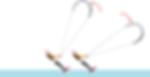 image d'un kitesurfeur qui dépasse un autre