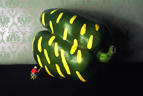 Green Paprika Painting