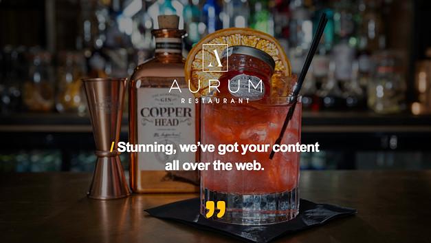Aurum Restaurant Testimonial