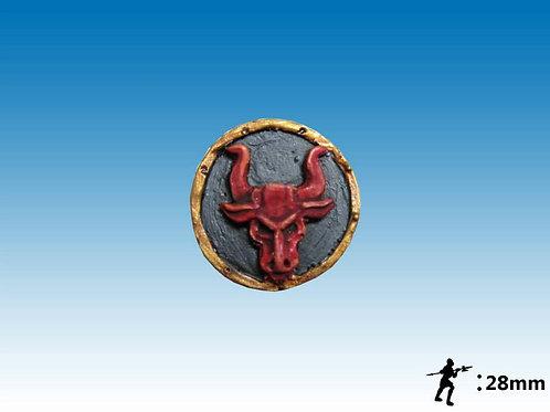 28mm Bulls Crest Round Shield